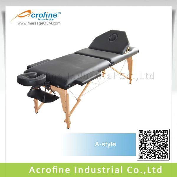 Acrofine three sections adjustable massage tables with A-shape backrest