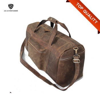02b0088984 Big Capacity Mens Leather Travel Duffel Bag wholesale Leather Duffle ...