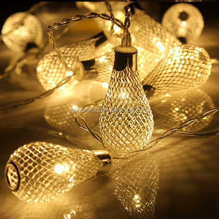 Holiday Lighting String Bulbs 110v 220v golden drip lights 3w christmas party holiday Decoration Led string