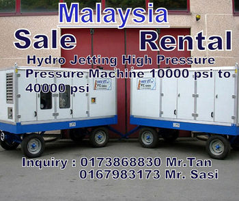 Waterjet 3000 Psi To 8000 Psi Supplier Distributor Malaysia - Buy Waterjet  18000 Psi 1000 Bar 25000 Psi Sale Rent Distributor Agent Malaysia Product