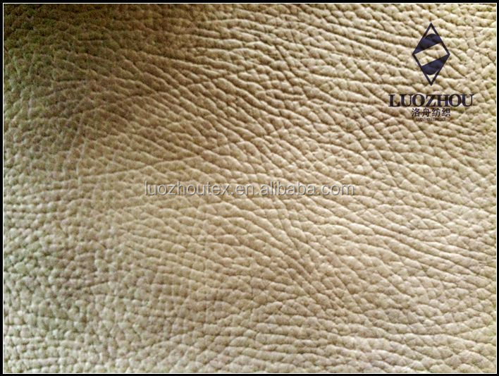 popular laminated printing suede sofa fabric