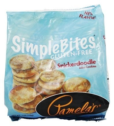 Pamela's Products - Simple Bites Gluten Free Mini Cookies Snickerdoodle - 7 oz.(pack of 2)