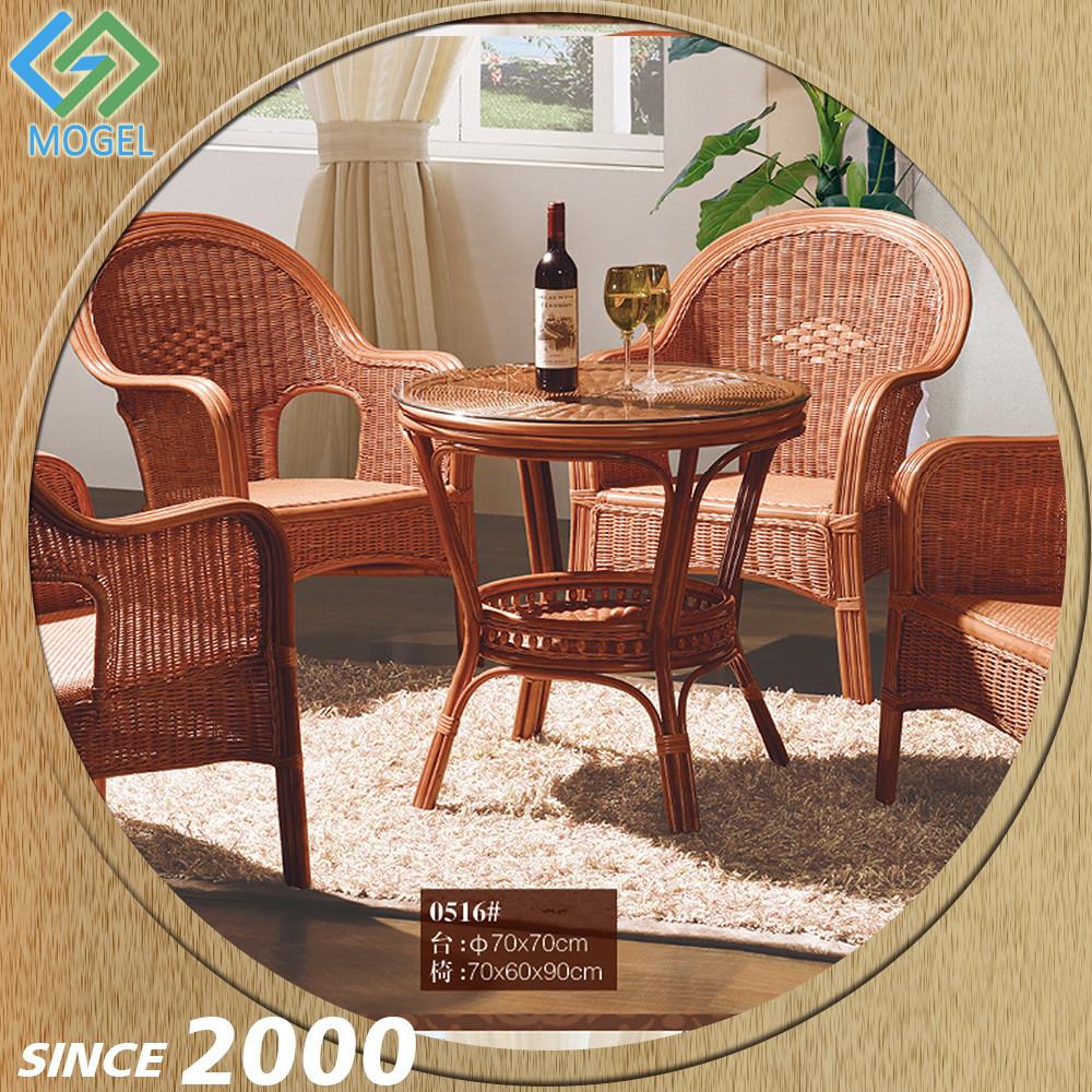 Foshan usine fantaisie canne chaise et une table pour café en ...