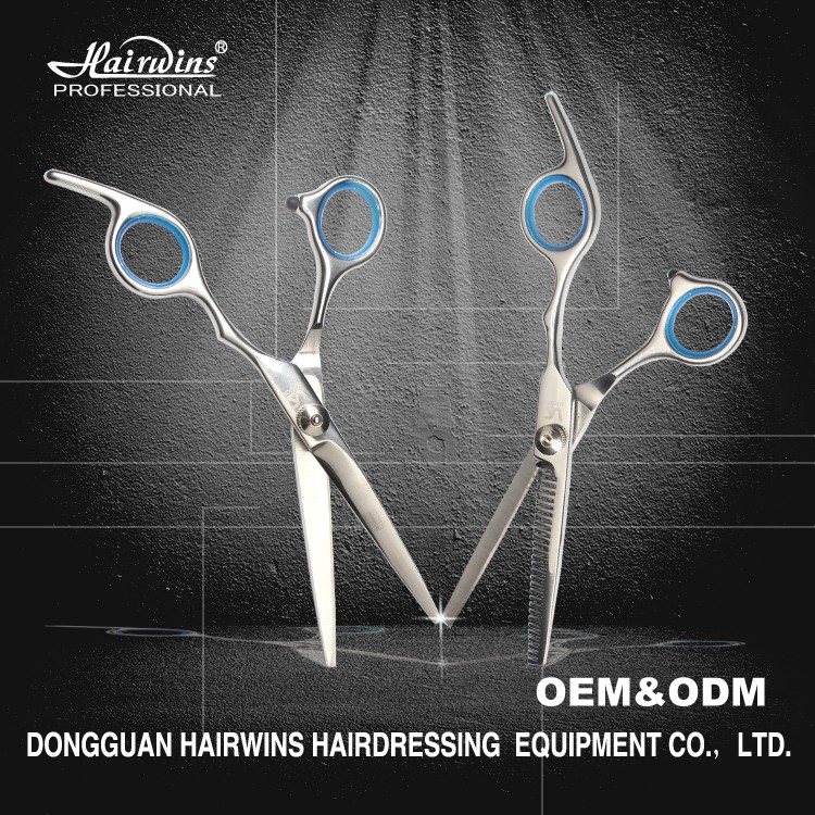 Professional hair shears cutting scissors korea thinning curved custom logo wholesale for barber shop
