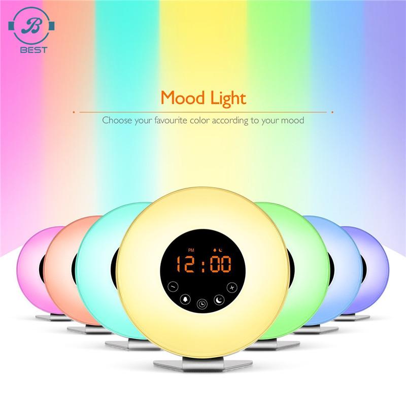 Clocks Humor 1pcs A Hot New Multicolor Led Color Changing Digital Pyramid Mood Alarm Clock Thermometer Electronic Table Desktop Clocks Gifts Selling Well All Over The World