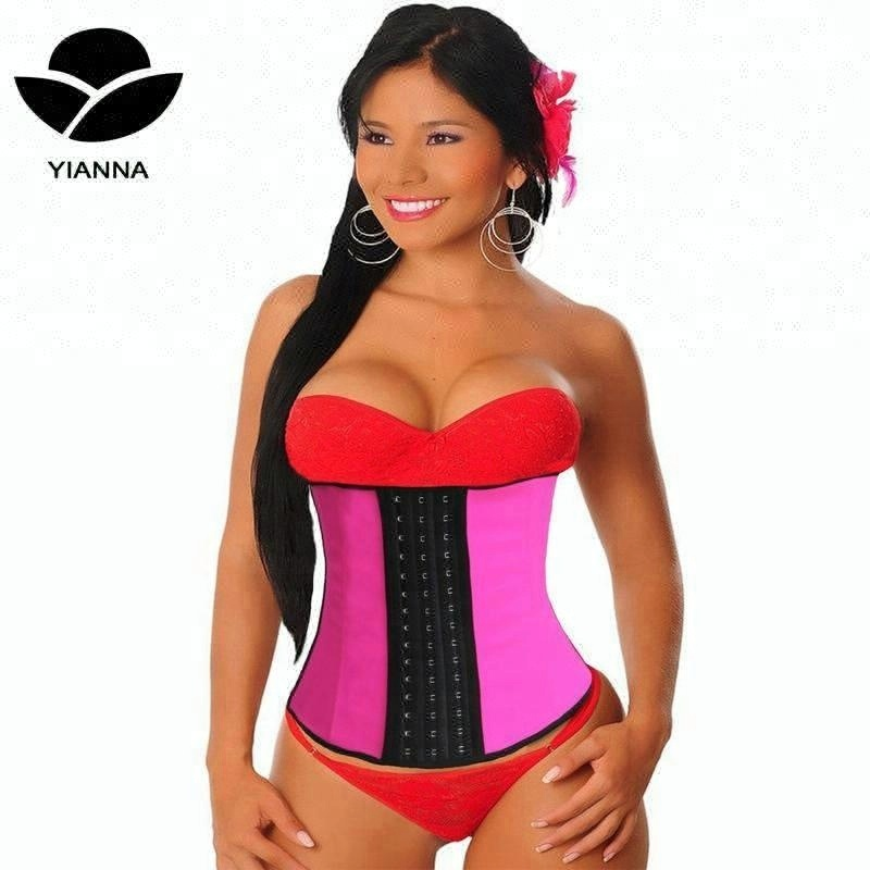 YIANNA Amazon Sales First Women's 9 Steel Bones Latex Waist Trainer