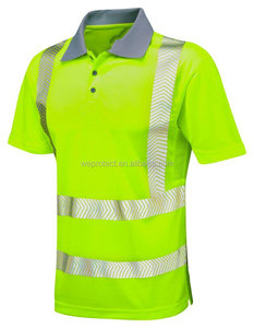 men t shirt whosale china reflective safety polo high visibility button shirts