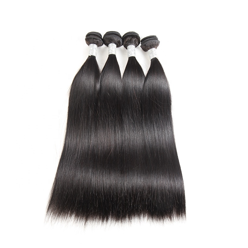 Brazilian Virgin Hair Straight 4 Pcs Lot Wholesale 100% Human Hair Weave Extensions Remy Natural Black Color Free Shipping фото