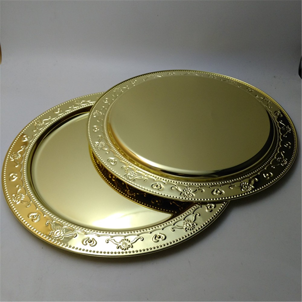 20 years manufacture stainless steel wedding plates 13 inch gold rose gold charger plates