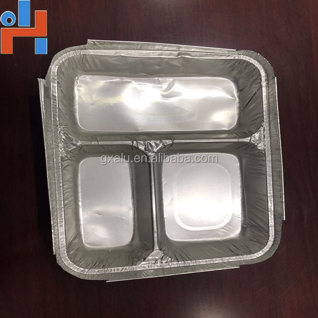 aluminum foil lunch box for food packaging and aluminum foil container lid