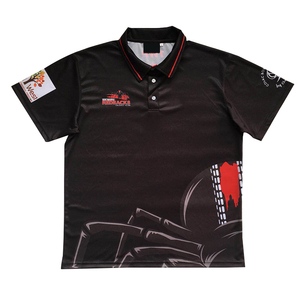 100% Polyester Custom Factory Printing blank sport Men's Polo T-shirt