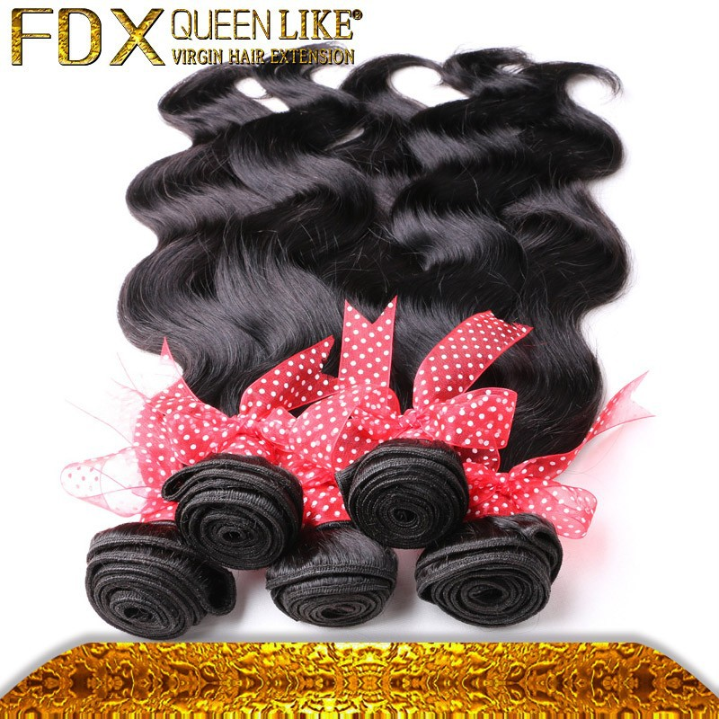1B color good reviews tangle free virgin mongolian body wave hair