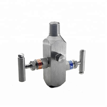 "1/2 ""NPT Filettato SS316 2 Vie Dell'acqua Valvola del Collettore"
