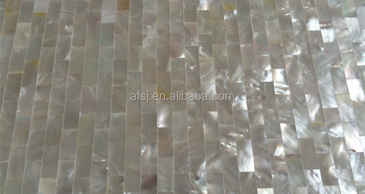 AF050208 Rect. Silber Weiß perlmutt muschel Mosaik Fliesen für ...