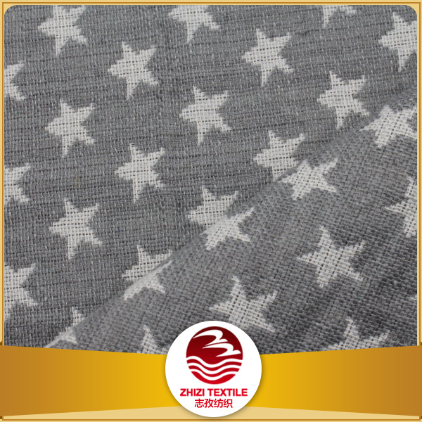Hemp jacquard star pattern weave fabrics buy hemp fabric for Star design fabric