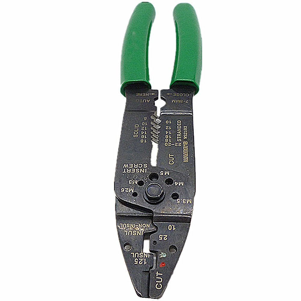 Electrical Crimper Crimping Tool Wire Stripper Plier Cable Cutter Wire Stripper Plier Crimper Cutting Stripping Multi-Purpose