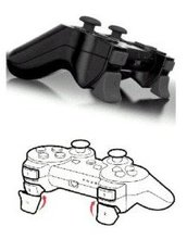 2 in 1 Joypad Handle Joystick Dual Trigger Cap for Playstation 3 Controller
