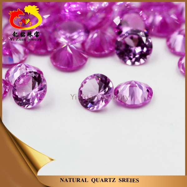 Bottom price artificial round shaped diamond cut loose ruby gemstone