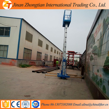 New Type 12m Double Mast Lift/vertical Man Lift With Ce ...