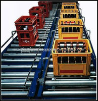 JS Power rolling conveyor line, electric chain driving roller conveyor system