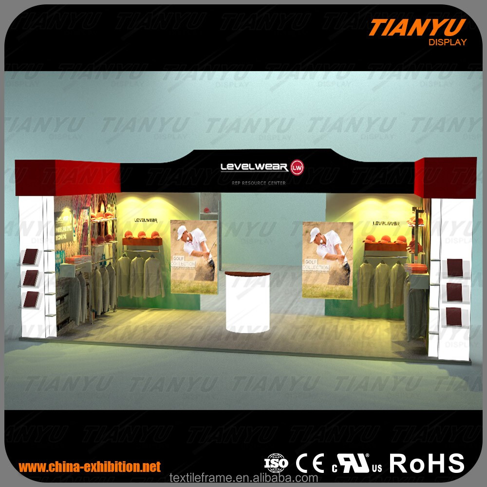 Edge Lit Display Booth For Trade Show