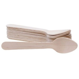 Disposable Miniature Ice Cream Wooden Spoons in Bulk