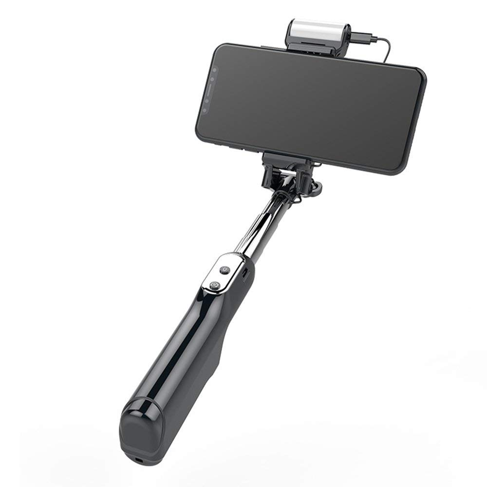 Epopee All Day Selfie Stick, Fill Light, Bluetooth Version3.0, Length Of Extension 185-870mm, Compatible iPhone6,iPhone6s,iPhone7,iPhone7 plus,iPhone7s,iPhone8,iPhone8x, (Black)