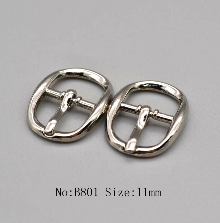 Small size ladies shoes belt decorative metal pin buckle