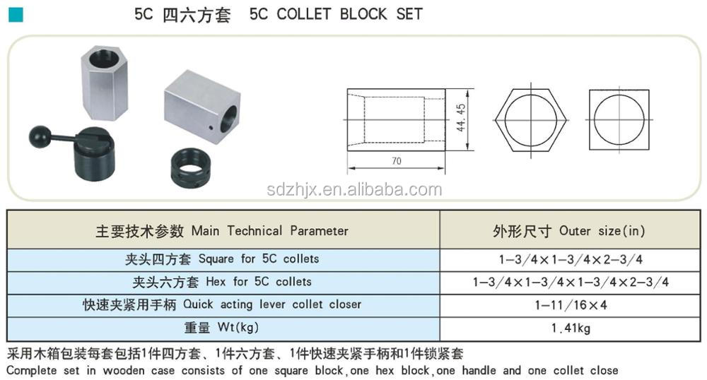 5-C Square Collet Block
