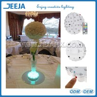 Radio Frequency Remote Controlled 15cm Size Centerpieces Table Decoration Led Base
