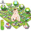 איכות גבוהה ילד לשחק שטיחי אלומיניום ידידותי לסביבה התינוק זוחל משטח גדול גודל: 160 * 180 ס