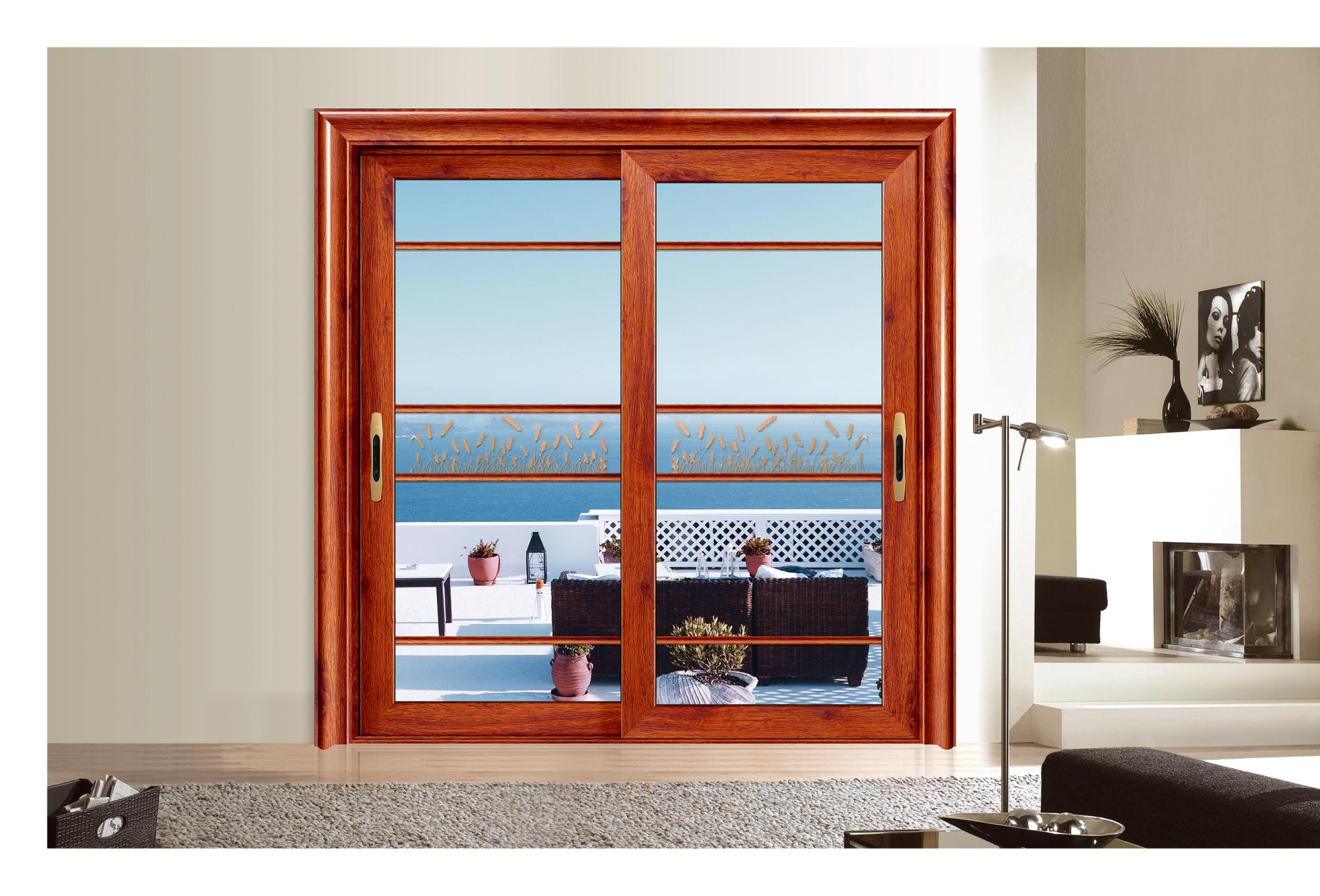 China Supplier Aluminum Sliding Glass Doors Cheap Aluminum Sliding