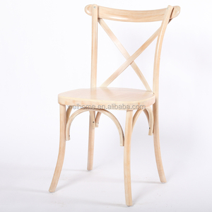 Hot sale solid wood Antique classic wooden oak crossback chair