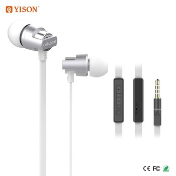 YISON C8 3.5mm Plug Stereo Sound Earphones Hot Sale Cheap Price Flat Wired Earphone Headphone With Mic
