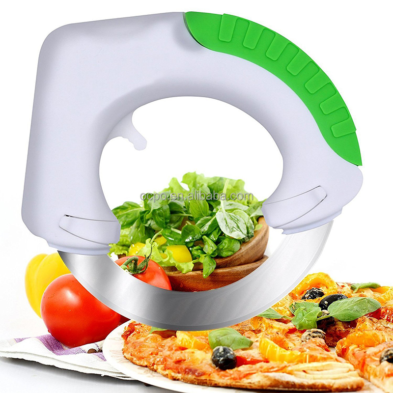 Amazon Stainless Steel Circular Blade Knife, Bolo Circular Rolling kitchen Knife for Food фото