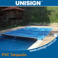 Durable dustproof outdoor pvc swimming pool, vinyl coated swimming pool cover