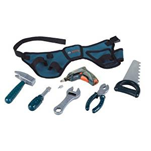 Theo Klein Bosch Toy Tool Belt Play Set made from sturdy plastic and cloth
