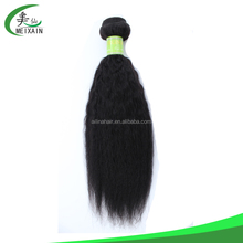 unprocessed 100% natural human yaki straight brazilian afro kinky hair