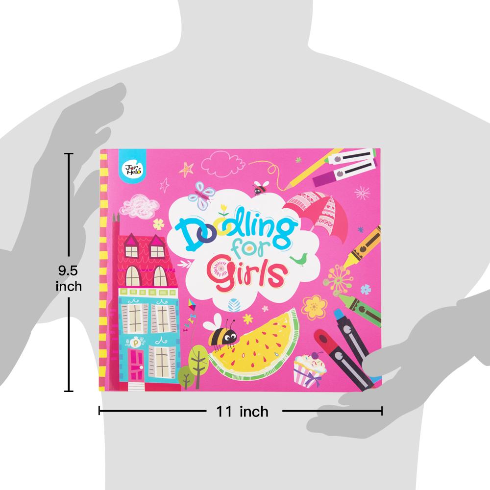 लड़कियों के लिए डूडल पुस्तक ड्राइंग, डूडल और कलरिंग पुस्तक