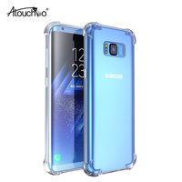 ATOUCHBO ANTI SHOCK Super-Slim Transparent TPU Armor Shockproof Cell Phone Case Back Cover for Samsung S8