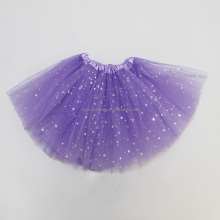 2017 summer baby girls skirts professional glitter star lavender dance tutu skirt for wedding