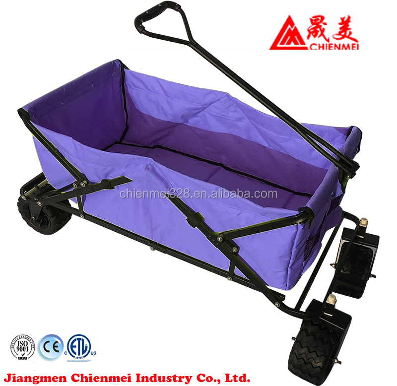 Easy folding shopping cart trolley with toolbox and bags travel garden folding wagon beach