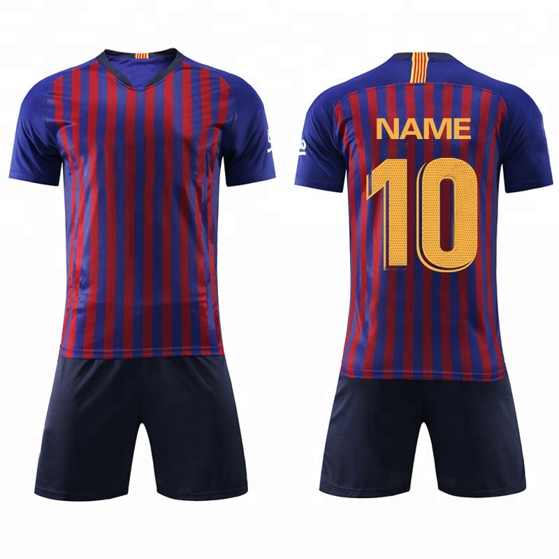 Hot sell popular design football club custom soccer jersey 2018- 2019