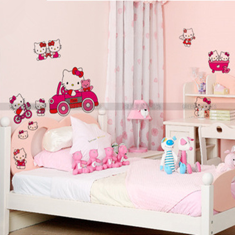 Bedroom Ideas Hello Kitty Soft Bedroom Colors Childrens Turquoise Bedroom Accessories Bedroom Decorating Ideas Gray And Purple: Aliexpress.com : Buy Children's Room Wall Stickers