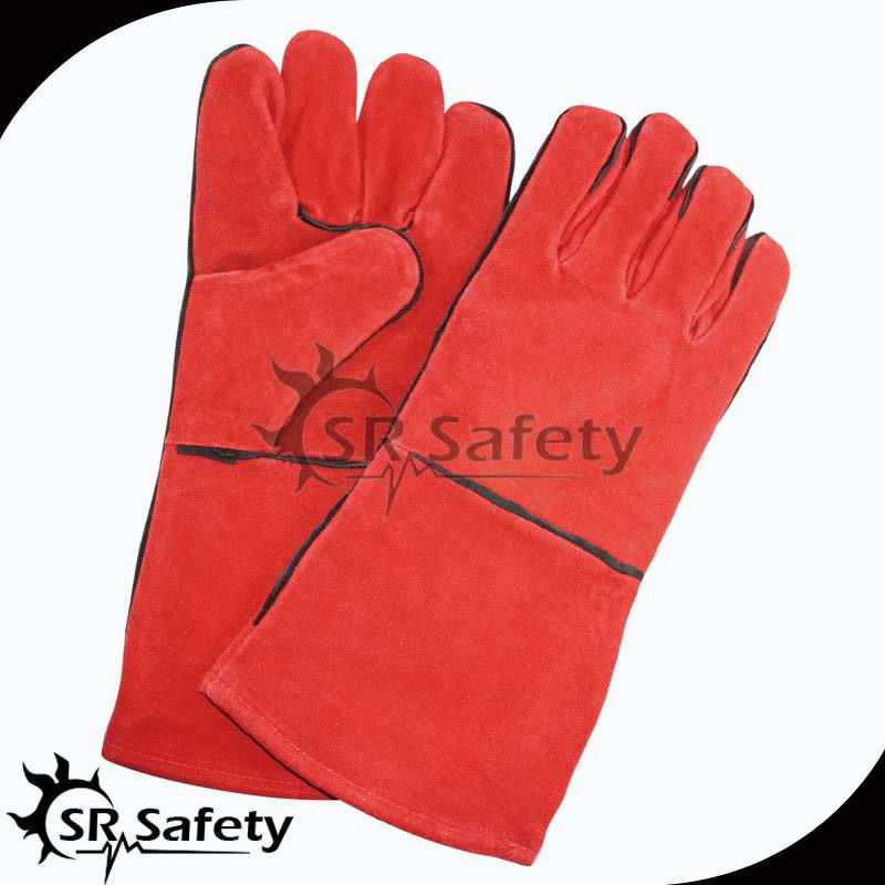 SRSAFETY long red welding gloves safety equipment made in china