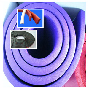 High-temperature resistant silicone rubber weather strip