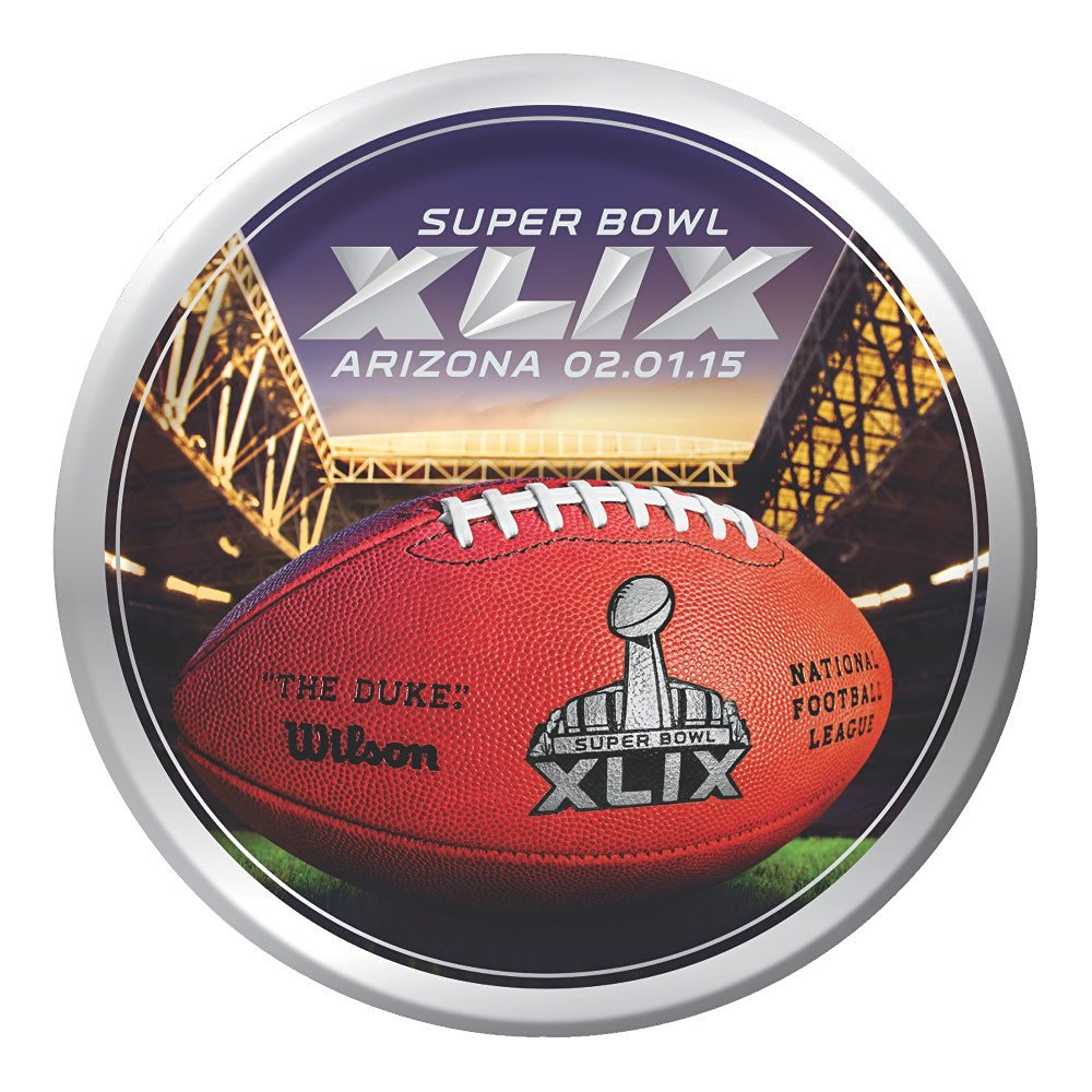 Creative Converting Arizona 8 Count Super Bowl 2015 Paper Lunch Plates, Multicolored