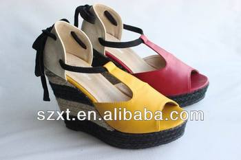 New Design Popular Ladies Footwear Name Latest Shoes Wedge Sandals ...