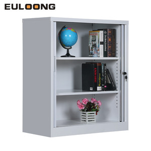 Factory Price Half Height Steel Tambour Door Metal Storage Cabinet