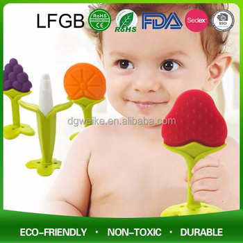 China Manufacturer BPA Free Food Grade Soft Giraffe Teether Silicone Baby Teether Chew Beads for Baby
